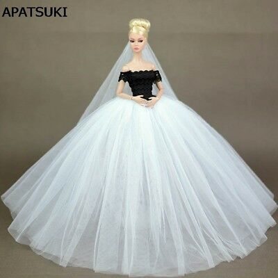 """Wedding Dress for 11.5"""" Doll Clothes Party Dresses Outfits for 1/6 Dollhouse Toy"""