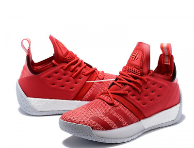 New Adidas Men's James Harden Sz 9.5 Vol. 2 Basketball Shoes Boost Red - BC1015