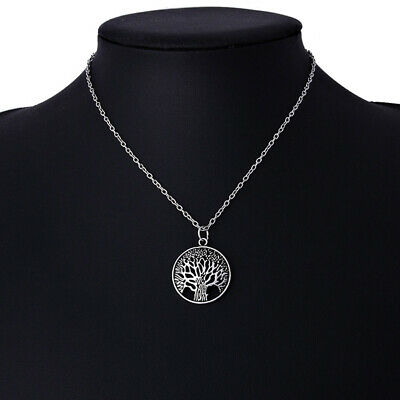 Necklace Life Tree Pendant Chain Fashion Jewelry Women Silver/Gold Gift