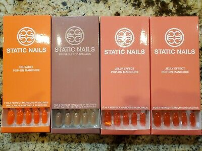 Lot of 4 Static Nails. Glossy and Jelly effect. New