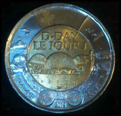 D-Day Anniversary Toonie Canada 2 Dollars Coin Non-Coloured  2019