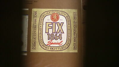 OLD 1960s GREECE BEER LABEL, FIX BREWERY ATHENS, FIX SPEZIAL 1864