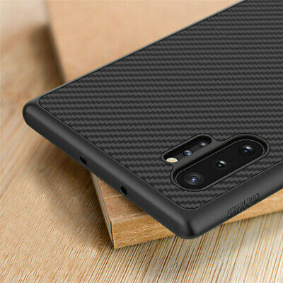 For Samsung Galaxy Note 10+S10 Plus Slim Synthetic Carbon Fiber Matte Case Cover