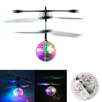 Flash Flying Ball Infrared Induction Colorful LED Disco RC Helicopter kids Toy I