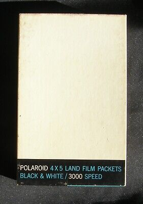 Vintage Polaroid 4 By 5 Land Film Packets 3000 Speed, Un-Used.