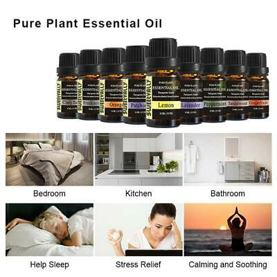 10ml Essential Oils Natural Plant Aromatherapy for Humidifier Diffuser Burner UK