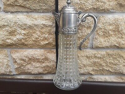 Vintage Italian glass claret jug / decanter / carafe 1 pint