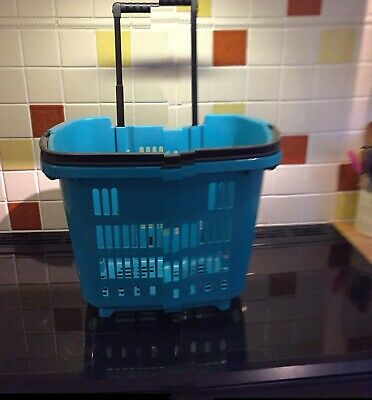 Plastic Shopping Trolley Basket Colour Green 34 L Top Quality