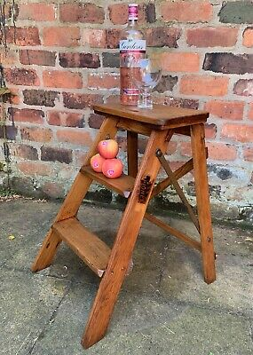 Antique Edwardian Step Stool by Pioneer - Prop, shop display, vintage, decor