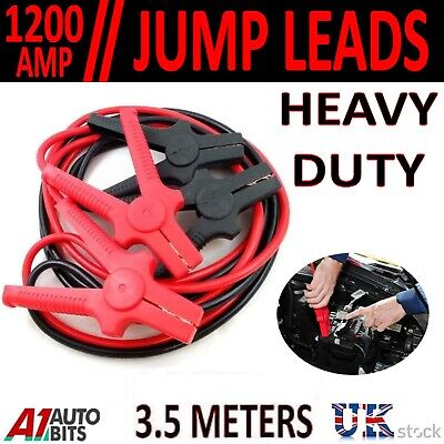 Professional Heavy Duty 1200amp 3.5 Metres Jump Leads Booster Cables Car Van