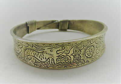 Lovely Antique Chinese Silver Decorated Bracelet