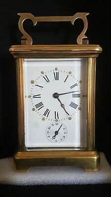 Pendule d' Officier de voyage. Carriage clock.