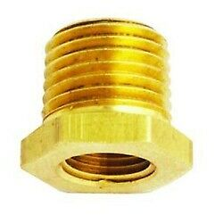 "Milton Industries 651 3/8"" NPT Male x 1/4"" NPT Female Brass Reducer Bushings"
