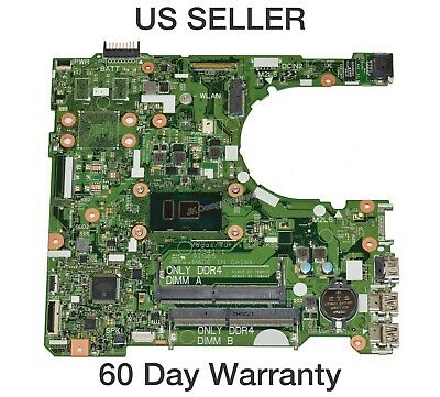 Dell Inspiron 3567 Laptop Motherboard w// Intel Core i3-7100U 2.4Ghz CPU RY2Y1 B