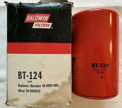 BALDWIN FILTERS BT124 Oil Filter,Spin-On,Full-Flow