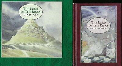 The Lord of the Rings Diary 1994 Unused PLUS Birthday Book J R R Tolkien