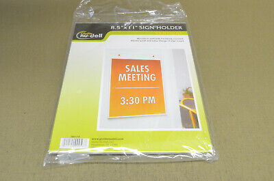Glolite Nu-Dell 8.5x11 Sign Holder Vertical       (2-C)