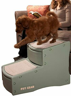 Pet Cats Dogs Gear Step Stairs Up To 150 Pounds Portable Washable Carpet Tread