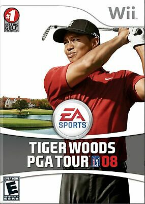 Tiger Woods PGA Tour 08 (Nintendo Wii, 2007) *COMPLETE*