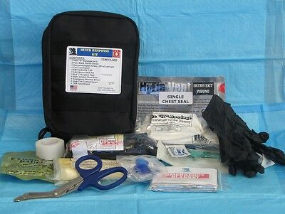 Quick Response Kit Trauma Emergency Military School Police Airway Breathing Circ