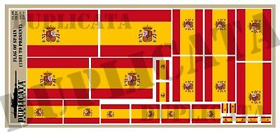 Diorama/Model Accessory- Flag of Spain (1981 - Present) - 1/72, 1/48, 1/35, 1/32