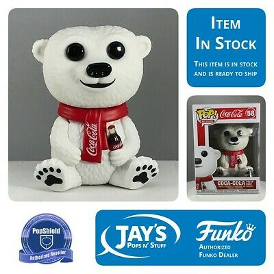 Funko POP! Ad Icons - Coca - Cola Polar Bear w/ Popshield In Stock