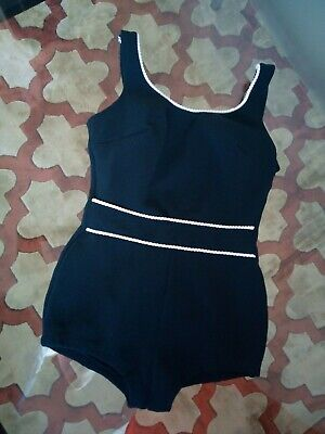 Vintage 1960'S/70'S Bathing/Swimming Costume Size '8/10'