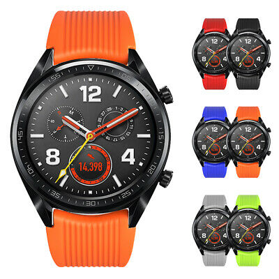 Pour Huawei Gt Montre Bande Remplacement Silicone Bracelet Sangle 22mm Neuf