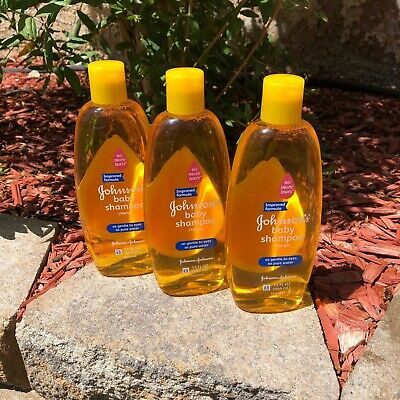 3x New Sealed Johnsons Baby Shampoo as gentle to eyes as pure water 15oz bottles
