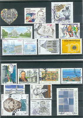 Superbe Lot 18 Timbres Gommes 2017 Obliteres Ttb Pcd Rond