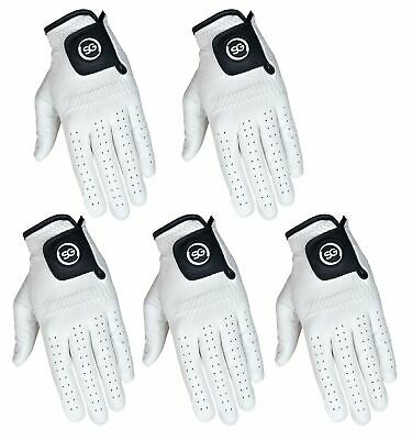 Pack of 5 SG Men golf gloves full 100% Cabretta Leather golf gloves L/H and R/H