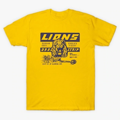 Cliff Booth Lions Drag Strip T-Shirt Inspired by Once Upon a Time in Hollywood
