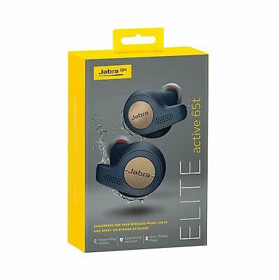 Jabra - Elite Active 65t True Wireless Earbud Headphones - Copper Navy BRAND NEW