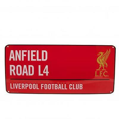 Liverpool FC Official Crested Red Metal Street Sign Anfield Road L4 Road Sign