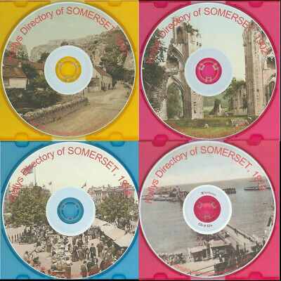 SOMERSET KELLY's DIRECTORY 1897, 1902, 1914, 1919 Genealogy CD select option