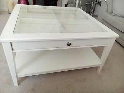 Ikea Liatorp White Coffee Table Used 9500 Picclick Uk