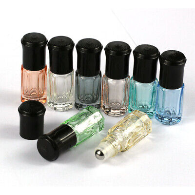 5-50 pieces 3ml Roller Ball  glass thick glass Essential Oils Vial Roll Bottles
