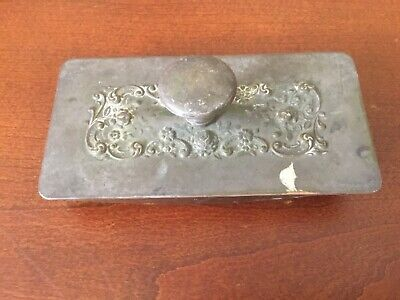 Antique Ornate Ink Blotter Roller With fancy quill work