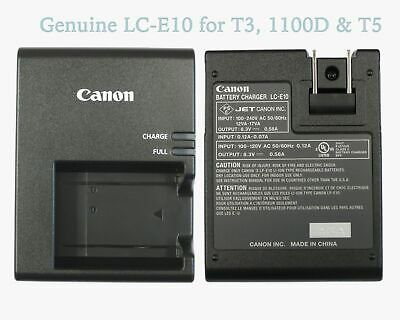 NEW Genuine Canon Rebel T3 T5 T6 T7 Camera Charger LP-E10 LC-E10 Authentic Rebel