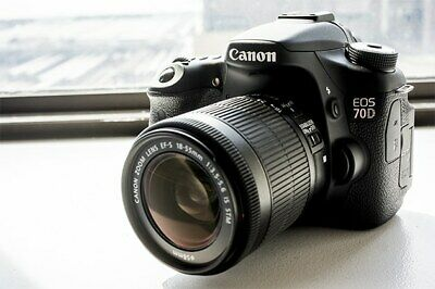 MINT Canon EOS 70D DSLR Camera with EF-S 18-55mm IS Lens (2 LENSES) 1894C002