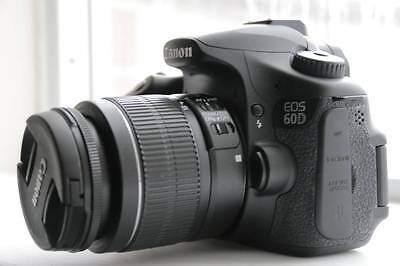 MINT Canon EOS 60D 18.0 MP DSLR with 18-55mm Lens (2 Lens). Freeshipping