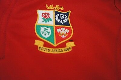 Adidas British Lions Official shirt South Africa 2009 sz 11-12 years