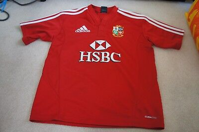 Adidas British Lions Official shirt South Africa 2009 sz 13-14 years