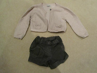 next shorts and cardigan sz 2-3 years
