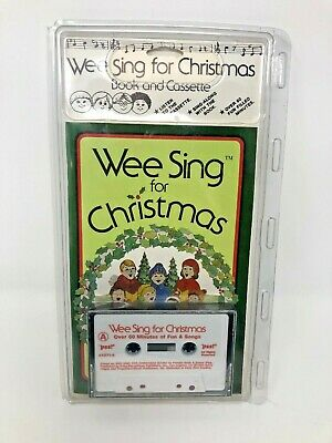 Vintage 1984 Wee Sing for Christmas Book and Cassette New in Package