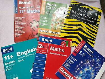 6 Bond11 plus exam Books 9-12 years Verbal Maths English  (T2/4) + 1 Extra