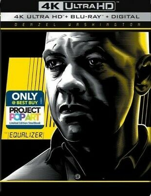 The Equalizer Limited Edition Steelbook 4K Ultra HD Blu-Ray Digital Brand New