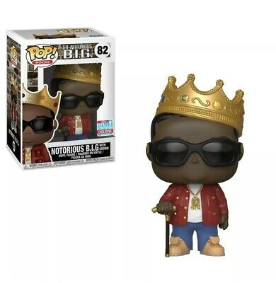 Nycc 2018 Funko Pop! Shared Exclusive Notorious B.i.g. Biggie Crown #82