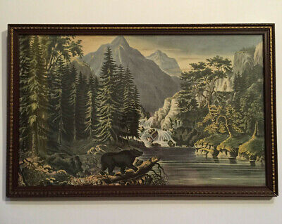 Antique Currier and Ives Print, The Mountain Pass, Sierra Nevada 1867, Very Nice