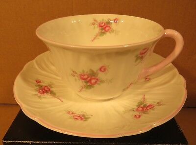 Shelley Bridal Rose Pink Handled Teacup & Saucer Made in England